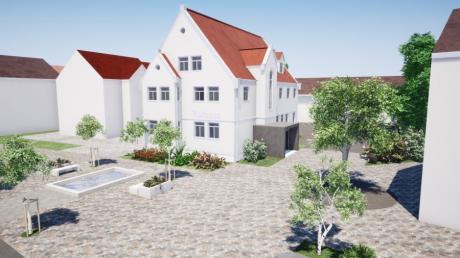 Das Architekturbüro Bodenmüller hat bereits diese Alternative zur maroden Zugangssituation zum Rathaus skizziert.