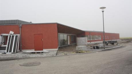 Der Bau des neuen Franziskus-Kindergartens in Klosterlechfeld befindet sich auf der Zielgeraden.