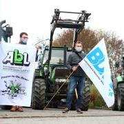 Neu-Ulm - Milchwerke Schwaben - Weideglück - Milch - Bauern - Milchpreis - Milchpreise - Preis - Preise - Milchbauern demonstrieren - Demo - Demonstration