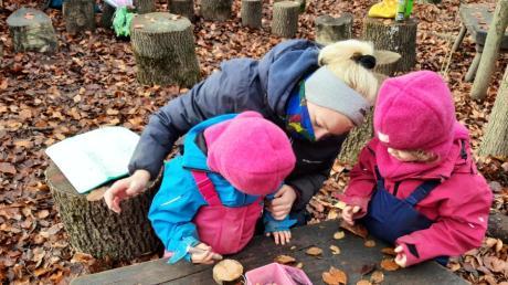 In Kissing werden Kinder nun in einem Waldkindergarten betreut.