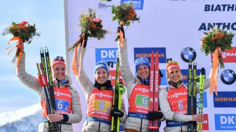 Die deutschen Biathletinnen kommen aus einer erfolgreichen Saison. Dennoch sind die Fußstapfen von Laura Dahlmeier groß.