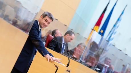 Bayerns Ministerpräsident stellte die Corona-Maßnahmen im Landtag vor, stellte sich der Debatte und ging damit auf seine Kritiker zu.