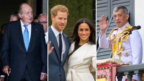 Juan Carlos, Harry und Meghan - und der Thai-König Maha Vajiralongkorn: Diese Royals fand man 2020 besonders oft in den Schlagzeilen.