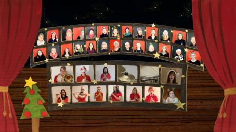 Mit selbst gesungenen Weihnachtsliedern im Internet will der Langweider Pausenchor den Menschen in Corona-Zeiten eine Freude machen.