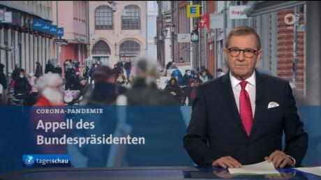 """Ein letztes Mal """"Tagesschau"""": Jan Hofer verabschiedete sich heute vom Nachrichtenpublikum."""