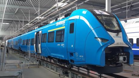 Der dreiteilige Mireo von der Siemens Mobility GmbH ist einer der Zugtypen, die ab 2022 im Raum Augsburg zum Einsatz kommen werden.
