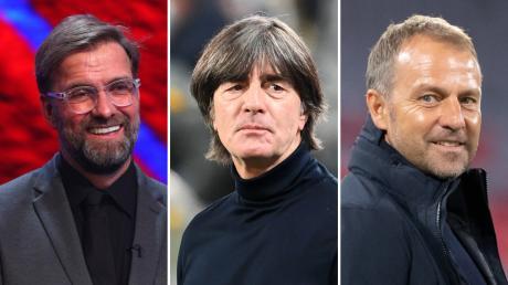 Prägten den Fußball 2020 - nicht alle nur positiv: Jürgen Klopp, Joachim Löw, Hansi Flick.