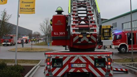 Mit großem Aufgebot suchten die Feuerwehren nach der Ursache eines penetranten Brandgeruches im Gewerbegebiet an der Pionierstraße.