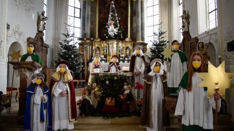 Die Merchinger Sternsinger statten dieses Jahr ihren Besuch online ab.