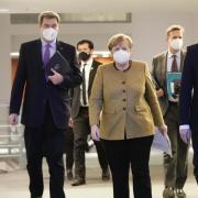 Ein gewohntes Bild in diesen Tagen: Kanzlerin Merkel und die Länderchefs beraten auch heute wieder über Corona-Maßnahmen und die Verlängerung des Lockdowns.