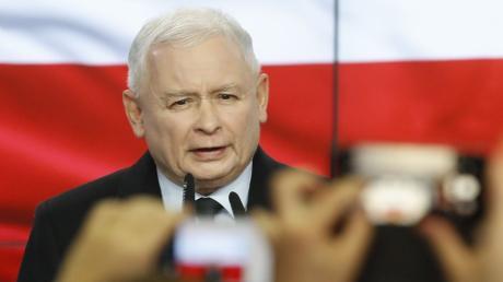 Schießt immer wieder gegen Deutschland: Polens Regierungschef Jaroslaw Kaczynski.