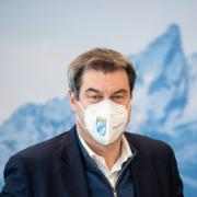 Markus Söder informiert heute in einer Pressekonferenz über die Corona-Maßnahmen in Bayern.