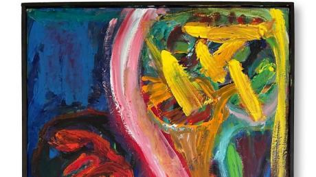 Der Kunstraum Am Pfarrhof Leitershofen präsentiert die Ausstellung Intermezzo. Unser Bild zeigt ein Werk ohne Titel (Ausschnitt), Öl auf Leinwand aus dem Jahr 2015 von Franz Hitzler.