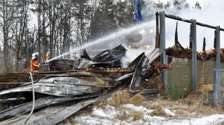 Montagnacht ist eine Lagerhalle für Hackschnitzel des Klosters St. Ottilien in Brand geraten.