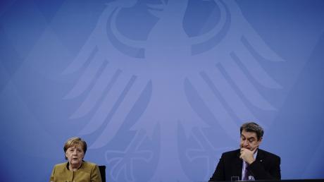 Der bayerische Ministerpräsident Markus Söder (CSU) ist eine Konstante bei den Pressekonferenzen nach den Bund-Länder-Treffen in Berlin.