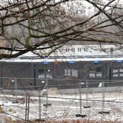 Die Flüchtlingsunterkunft an der Berliner Allee in Augsburg steht derzeit wegen eines Corona-Falls unter Quarantäne.