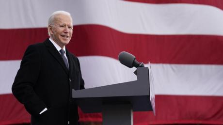Joe Biden steht vor seiner Vereidigung als US-Präsident.