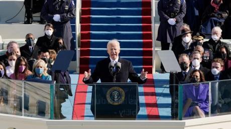 US-Präsident Joe Biden hält seine Antrittsrede.