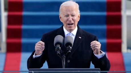Joe Biden bei seiner Rede nach der Vereidigung.