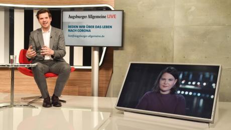 Annalena Baerbock, Bundesvorsitzende B 90/Die Grünen, stellte sich am Montag den Fragen von Chefredakteur Gregor Peter Schmitz und unseren Lesern.