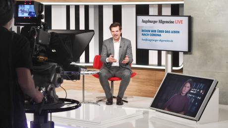 """Annalena Baerbock stellte sich am Montag den Fragen von Chefredakteur Gregor Peter Schmitz bei """"Augsburger Allgemeine Live""""."""