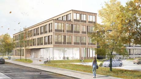 Das Landratsamt in Aichach soll mit einem Anbau in Richtung Münchener Straße erweitert werden. Der Bauausschuss hat dem Kreistag empfohlen, das Projekt endgültig zu beschließen.