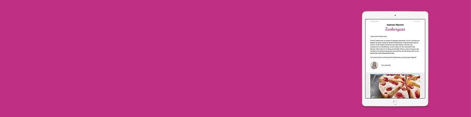 Neu: Unser Zuckerguss Newsletter