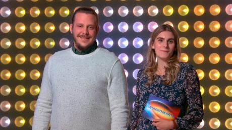Daniel und Ronja Wildfang nehmen am Quiz mit Jörg Pilawa teil. Ausgestrahlt wird der zweite Teil der Senden am Donnerstag, 5. Februar, um 16.10 Uhr in der ARD.
