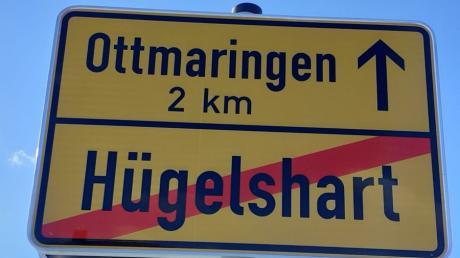 Wohin fahren Sie, wenn Sie Hügelshart verlassen? Eine Firma machte aus dem Friedberger Ortsteil Ottmaring Ottmaringen.