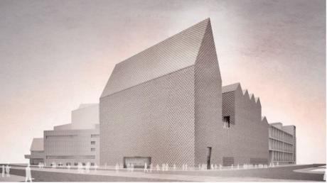 So sieht der Sieger-Entwurf von Architekt Max Dudler aus Berlin für den Erweiterungsbau des Theaters Ulm aus.