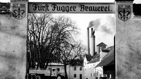 BBlick in die gute, alte und bierselige Zeit: Dies ist eine alte Aufnahme des Brauereihofs in Babenhausen.