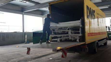 Die Kreisspitalstiftung hat ausrangierte Klinikbetten ins kroatische Erdbebengebiet geschickt.