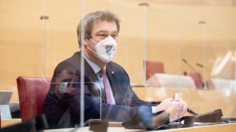 Markus Söder musste nach seiner Regierungserklärung am Freitag im Landtag viel Kritik einstecken.