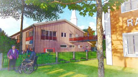 So soll das Gelände des Hiltenfinger Hauses für Kinder nach dem Entwurf von Architekt Gerhard Birkle künftig aussehen.