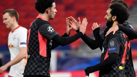 Die Leipziger um Lukas Klostermann (l) mussten sich dem FC Liverpool geschlagen geben.
