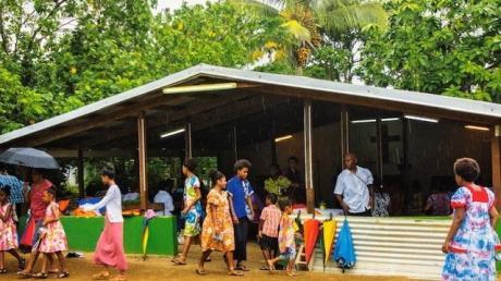 So sieht eine Kirche im südpazifischen Inselstaat Vanuatu aus.