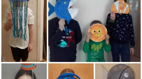 Zu Fasching gab es für die jungen Wasserwachtler in Dinkelscherben eine besondere Überraschung. Sie bekamen Bastelutensilien für ein Wasserwachtskostüm.