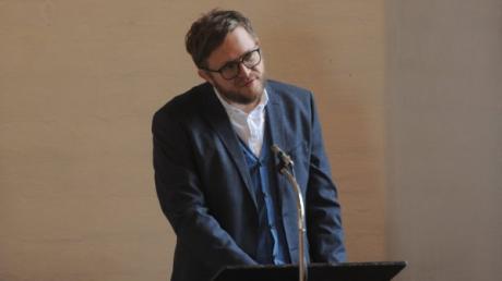 Kulturredakteur Marcus Golling hielt die Kanzelrede in der evangelischen Kirche St. Thomas in Thalfingen.
