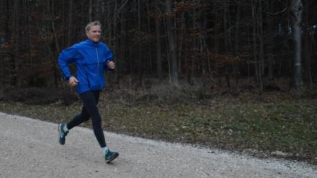 Ein starker Läufer: Anton Deuringer von der Laufgemeinschaft Wehringen auf der Burgwalden-Runde.