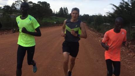 Training in Afrika: Läufer Manuel Viehl aus Hiltenfingen bei seinem ersten Aufenthalt in Iten.