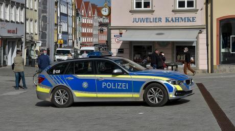 Am Landsberger Hauptplatz war die Polizei am Wochenende gefordert.