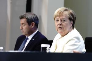 Zwei der Protagonisten beim Corona-Gipfel: Angela Merkel und Markus Söder.