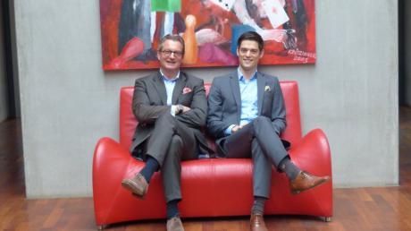 Zwei Generationen leiten eine Unternehmensgruppe: Firmengründer Horst Walz, 61, und sein Sohn Fabian, 34.