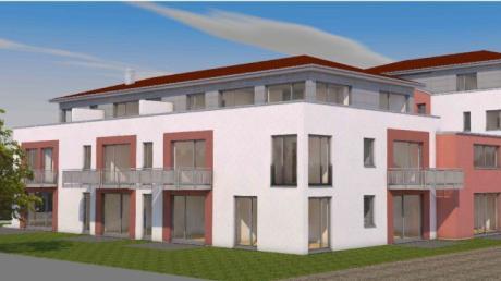 So soll das Wohn- und Geschäftshaus an der Bahnhofstraße laut Bauantrag aussehen.