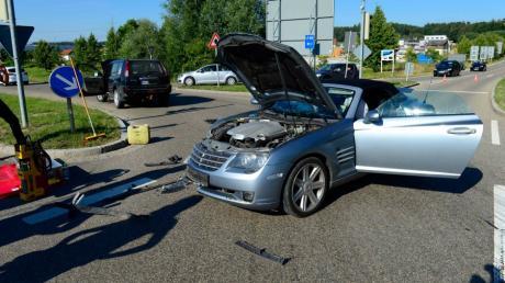 Archivfoto: An der Kreuzung auf der Legolandallee zum Zubringer zur B 16 ereignen sich regelmäßig Unfälle.