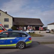Ein Großaufgebot an Einsatzkräften musste heute in Grasheim zur Tat schreiten.