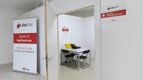 So sieht es im Bobinger Impfzentrum aus.