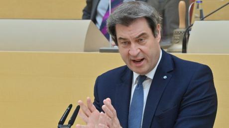 Ministerpräsident Markus Söder musste sich im Landtag viel Kritik für seinen Corona-Kurs anhören.