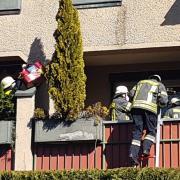 Am Samstagmittag fand in Steppach ein großer Rettungseinsatz in der Flurstraße statt.