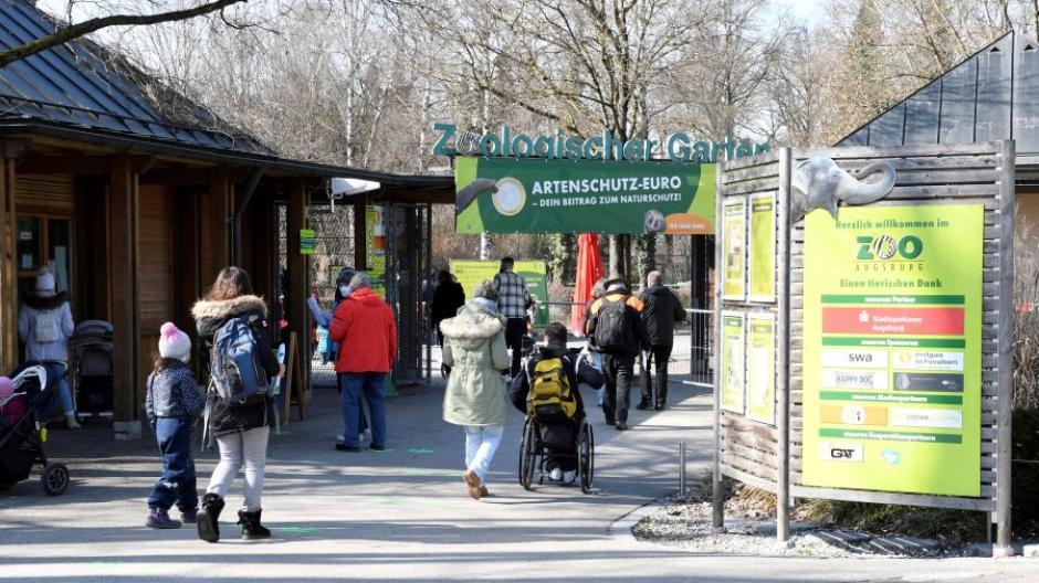 Seit Ende Oktober war der Augsburger Zoo wegen Corona geschlossen. Am Montag waren erstmals wieder Besucher willkommen.